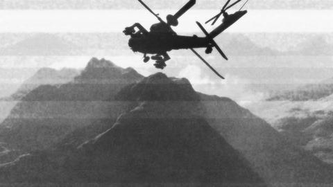 Apaches in Mountains 14 bad signal Stock Video Footage