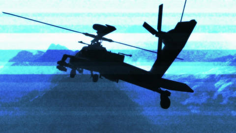 Apaches in Mountains 16 bad signal Stock Video Footage