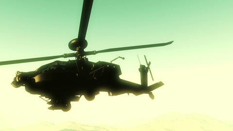 Apaches in Mountains 18 300fps super slow motion Stock Video Footage