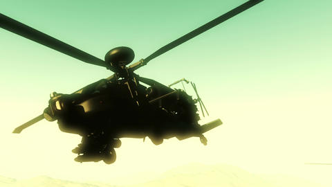 Apaches in Mountains 18 300fps super slow motion Animation