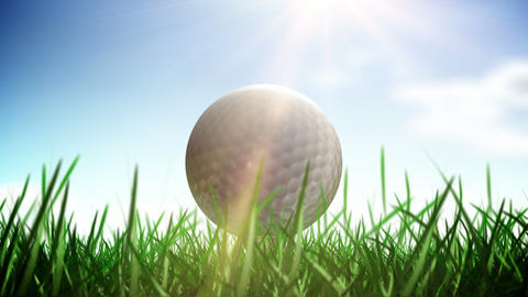 Golf ball loop Stock Video Footage