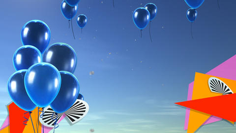 balloon background blue Animation