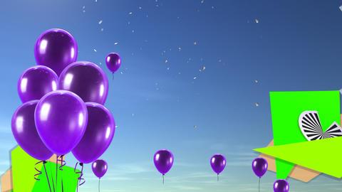 balloon background purple Stock Video Footage