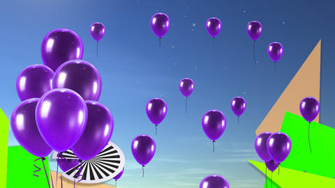 balloon background purple Stock Video Footage