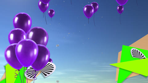 balloon background purple Animation