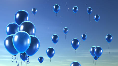 balloon up to sky blue Stock Video Footage