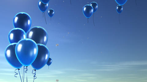 balloon up to sky blue Animation