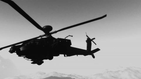 Apaches in Mountains 21 300fps super slow motion bad signal Stock Video Footage