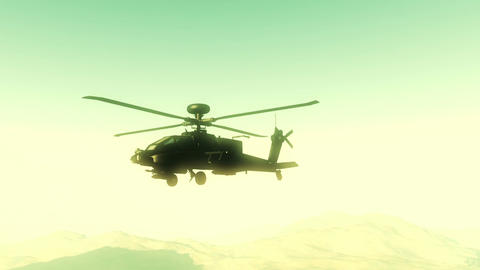 Apaches in Mountains 24 flycam Stock Video Footage