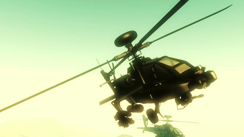Apaches in Mountains 24 flycam Animation