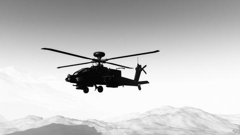 Apaches in Mountains 26 flycam Stock Video Footage