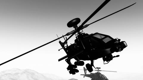 Apaches in Mountains 26 flycam Animation