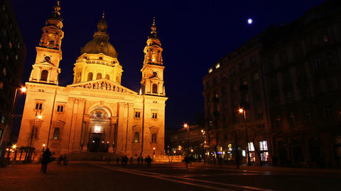 Basilica In The Evening 02 Stock Video Footage