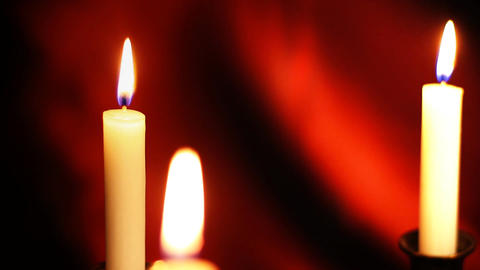 Candles 10 Stock Video Footage