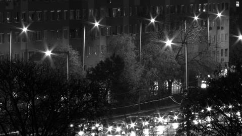 City Night Timelapse BW 13 Footage