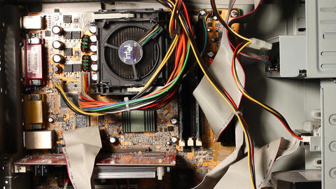 Desktop Computer Inside 02 Stock Video Footage