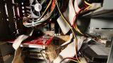 Desktop Computer Inside 14 wideangle pan up Footage
