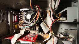 Desktop Computer Inside 18 wideangle Stock Video Footage