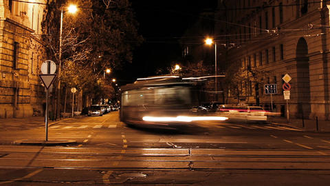 European City Night Timelapse 02 Stock Video Footage