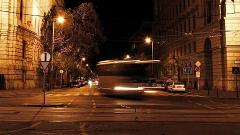 European City Night Timelapse 02 Stock Video Footage
