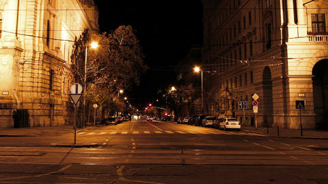 European City Night Timelapse 02 Footage