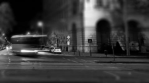 European City Night Timelapse BW 04 Stock Video Footage
