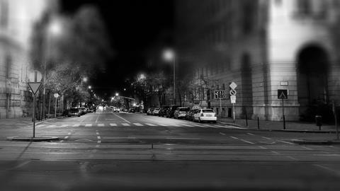 European City Night Timelapse BW 04 Footage