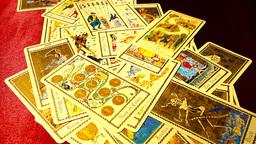 Foreteller Tarot Cards 01 Stock Video Footage