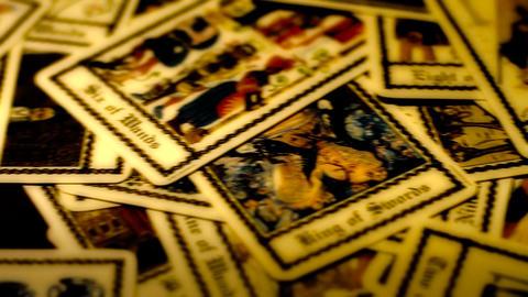 Foreteller Tarot Cards 03 Stock Video Footage