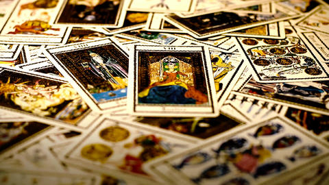 Foreteller Tarot Cards 05 Footage