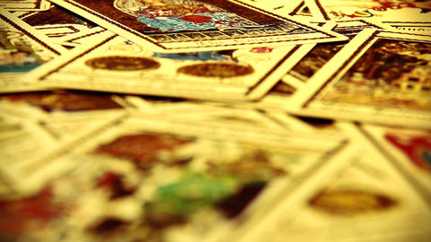 Foreteller Tarot Cards 07 Stock Video Footage