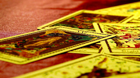 Foreteller Tarot Cards 09 Stock Video Footage