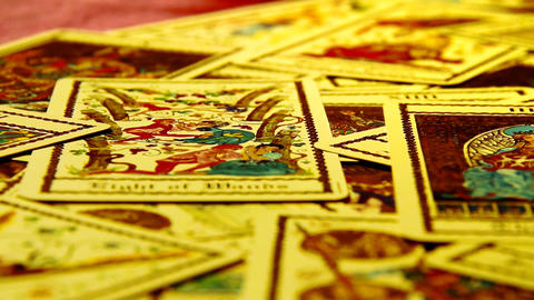 Foreteller Tarot Cards 09 Stock Video Footage