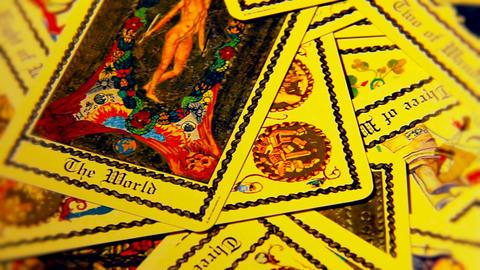 Foreteller Tarot Cards 11 Stock Video Footage