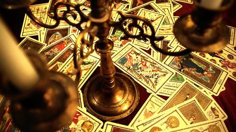 Foreteller Tarot Cards 13 Stock Video Footage