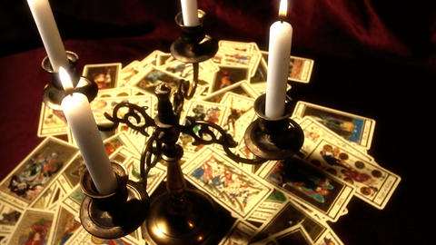 Foreteller Tarot Cards 15 Stock Video Footage
