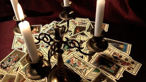 Foreteller Tarot Cards 17 Stock Video Footage