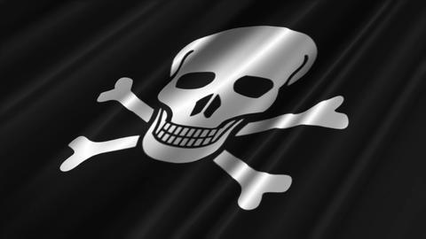 Pirate Flag Loop 02 Stock Video Footage
