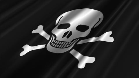 Pirate Flag Loop 02 Animation