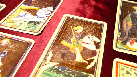 Tarot Cards 03 dolly Stock Video Footage
