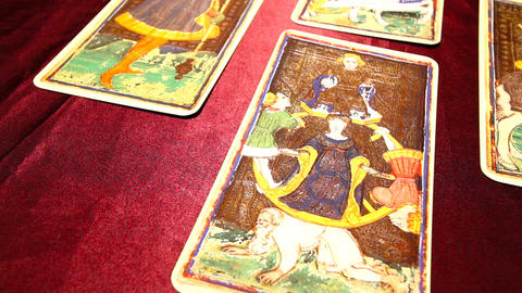 Tarot Cards 03 dolly Footage