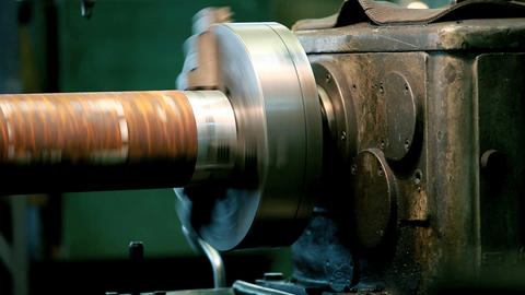 spindle lathe Stock Video Footage