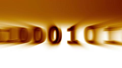 3D Binary World 04 Stock Video Footage