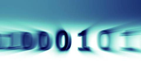 3D Binary World 06 Stock Video Footage