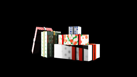 3D Present Boxes Loop Stock Video Footage