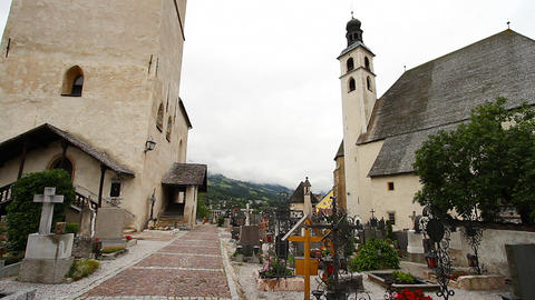 Cemetery and Churches 01 Stock Video Footage