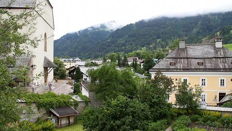 European Mountain Town Tirol 01 Stock Video Footage