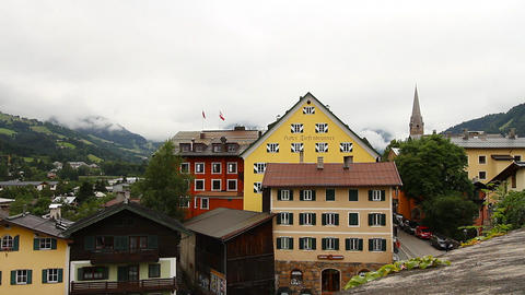 European Mountain Town Tirol 03 Stock Video Footage