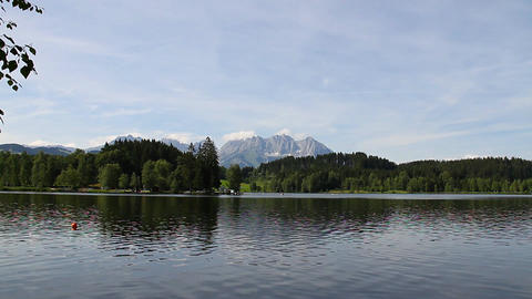 Lake and Mountains Beauty Scene 01 Stock Video Footage