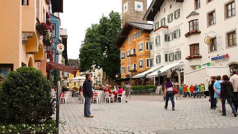 Kitzbuhel Downtown Austria 02 Stock Video Footage